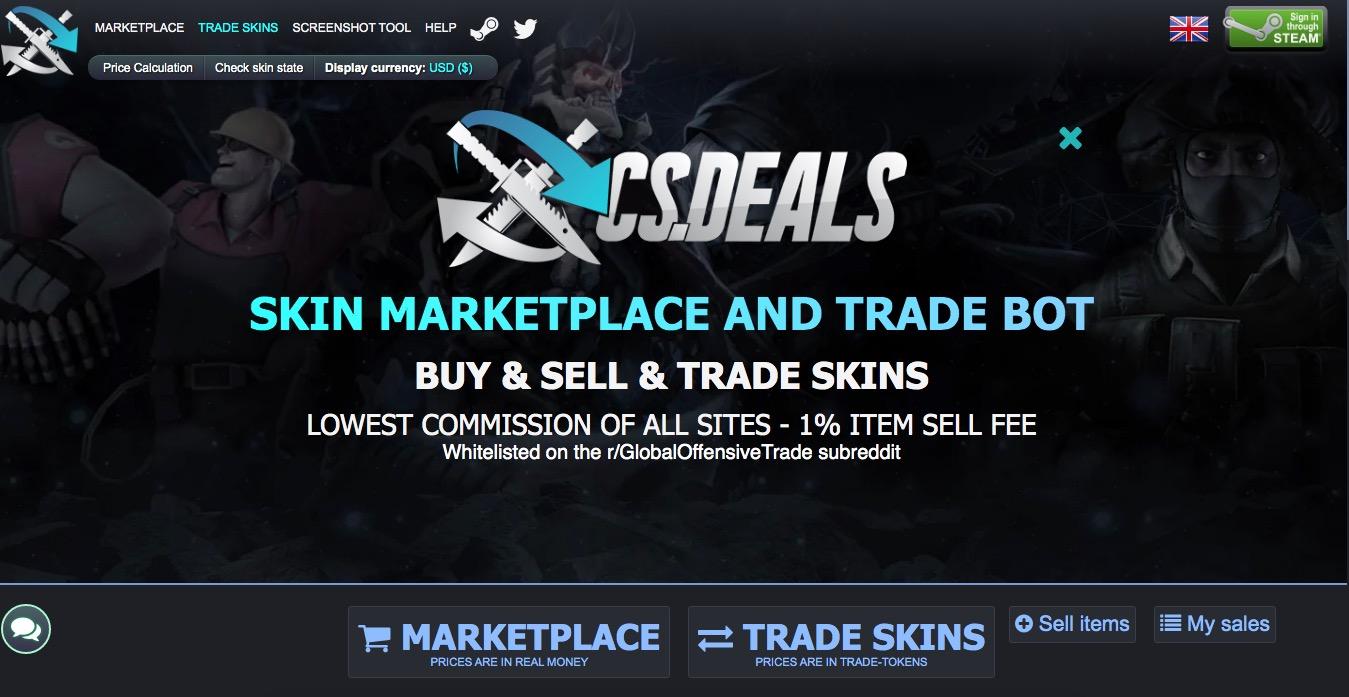 CsDeals trade skins
